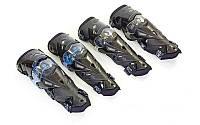 Комплект мотозащиты Scoyco K12: колени/голень (пластик, PL)