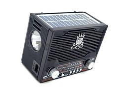 Радиоприемник NS-1556BTS с солнечной панелью/ Bluetooth / SD/USB/ + Фонарь