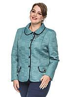 Женский пиджак больших размеров оптом и в розницу . Голубой