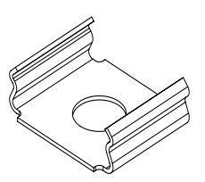 КЛК комплект клипс( 6кл.+6шур.) для крепления профиля ЛПС, ЛСК, ЛСС (7224) Украина