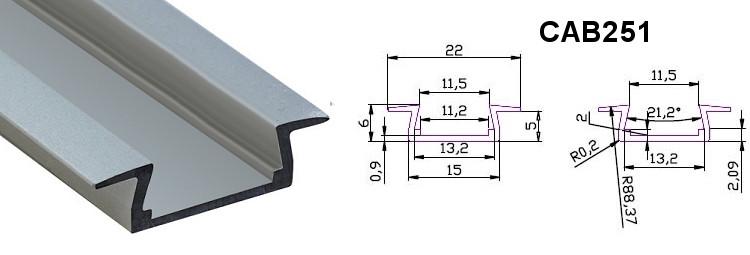 Профиль CAB251-AL -1м. (4396) CHINA
