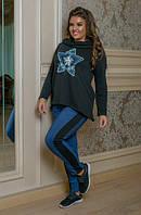 Костюм в спортивном стиле с вышивкой, с 48-58 размер, фото 1