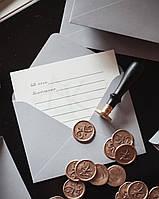 Крафт конверты C6, 80 г/м2, серебро