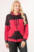 Женский батальный спортивный костюм Сайла, цвет бордо / размер 54-64 , фото 3