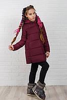 """Стеганое детское пальто для девочки """"Canada"""" с капюшоном (5 цветов)"""