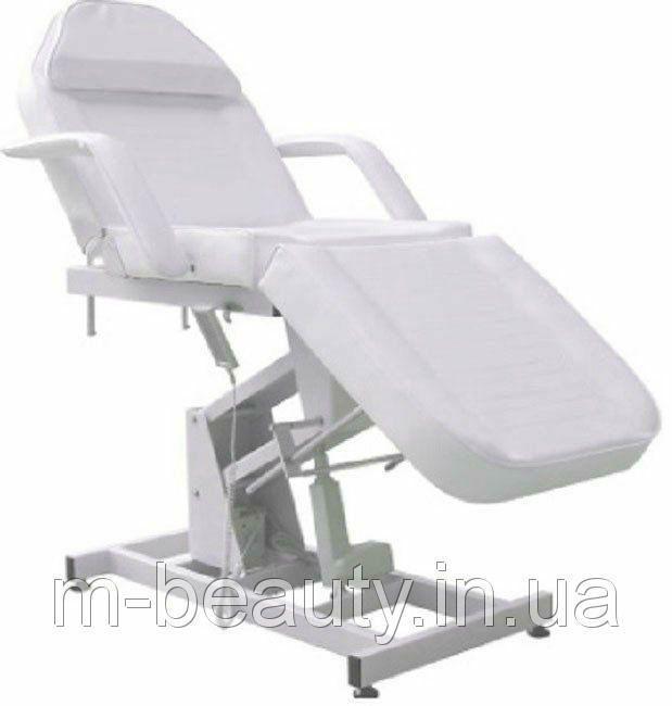 Кушетка для косметолога электрическая с регулировкой высоты кресло-кушетка косметологическая цвет белый
