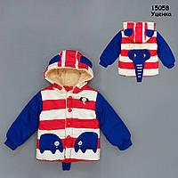 """Демісезонна куртка """"Слоник"""" для хлопчика. 90 см"""