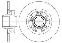 Задний тормозной диск без подшипника на Рено Трафик II 01г->/ REMSA 6733.00