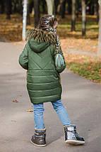 """Детская теплая куртка на синтепоне """"Marika"""" с карманами и капюшоном, фото 2"""