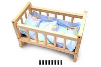 Кровать игрушечная+постель (шт.)