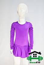 Купальник для гимнастики и танцев с юбкой (цвет в ассортименте) 3XS, Фиолетовый