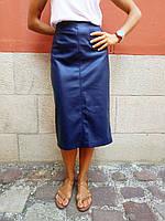 eb31f961f93 Женская юбка украинского бренда MustHave синего цвета размер s (36)