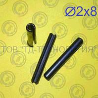 Штифт пружинный цилиндрический Ф2х8 DIN 1481, фото 1