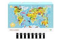 Пазлы Карта мира животные 300133 (профі) (шт.)