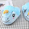 Плюшевые тапочки Единороги голубые, фото 2
