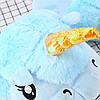 Плюшевые тапочки Единороги голубые, фото 3
