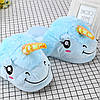 Плюшевые тапочки Единороги голубые, фото 5