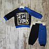 Оптом Батник кнопка зі штанами 6-18 міс. для хлопчиків малюків, фото 2