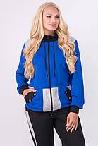 Женский батальный спортивный костюм прямого покроя Касиди, цвет электрик / размер 54-64 , фото 3