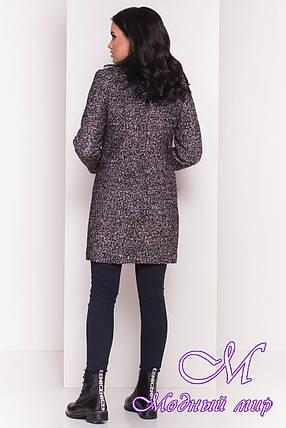 """Сіра жіноча зимове пальто з хомутом р. S, M, L арт. Фортуна """"0574"""" - 7226, фото 2"""