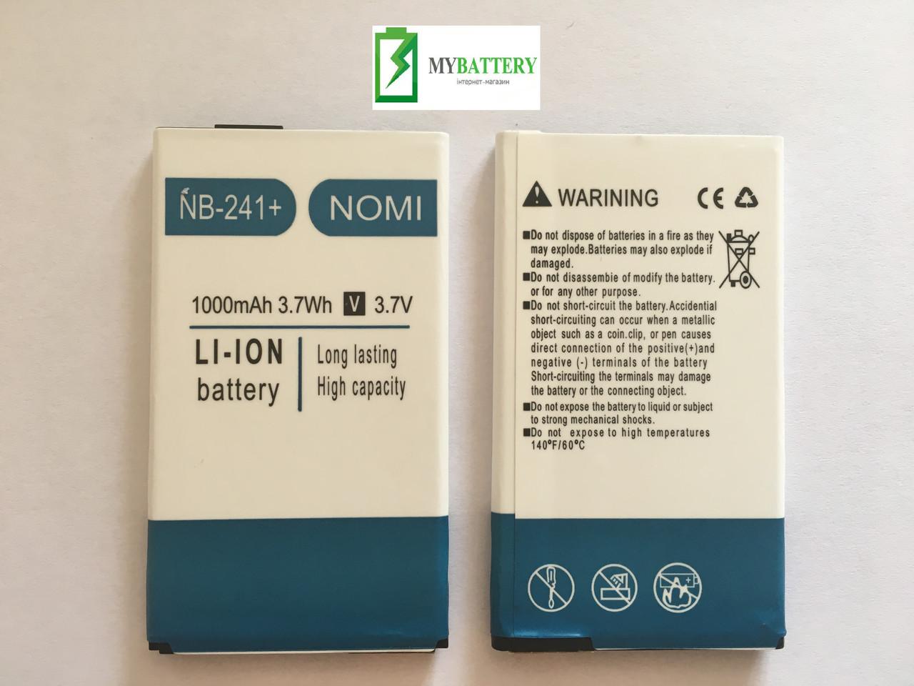 Оригинальный аккумулятор АКБ батарея Nomi NB-241+ | I241+ 1000 mAh 3.7V