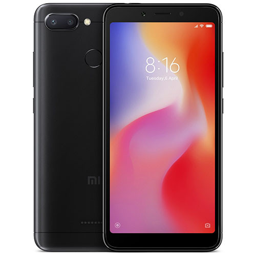Смартфон Xiaomi Redmi 6 4/64Gb Black Global version (EU) 12 мес