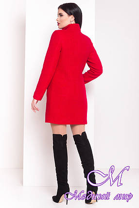 """Теплое женское красное зимнее пальто с хомутом р. S, M, L арт. Фортуна """"0574"""" - 7223, фото 2"""
