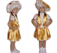 Детский карнавальный костюм для девочки гриб Лисичка