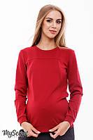 Стильный свитшот для беременных и кормления RIDA LIGHT, карминовый*, фото 1