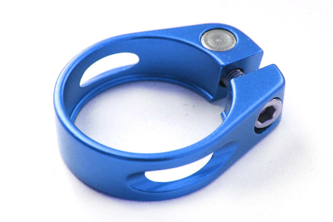 Зажим для подседела Wake 34.9 мм, болтовой, синий