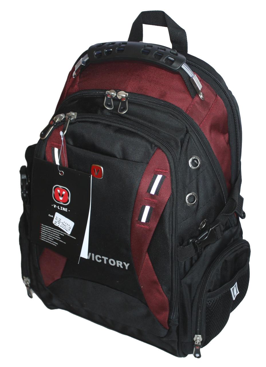 Городской рюкзак 35 литров Черный Victory 6602