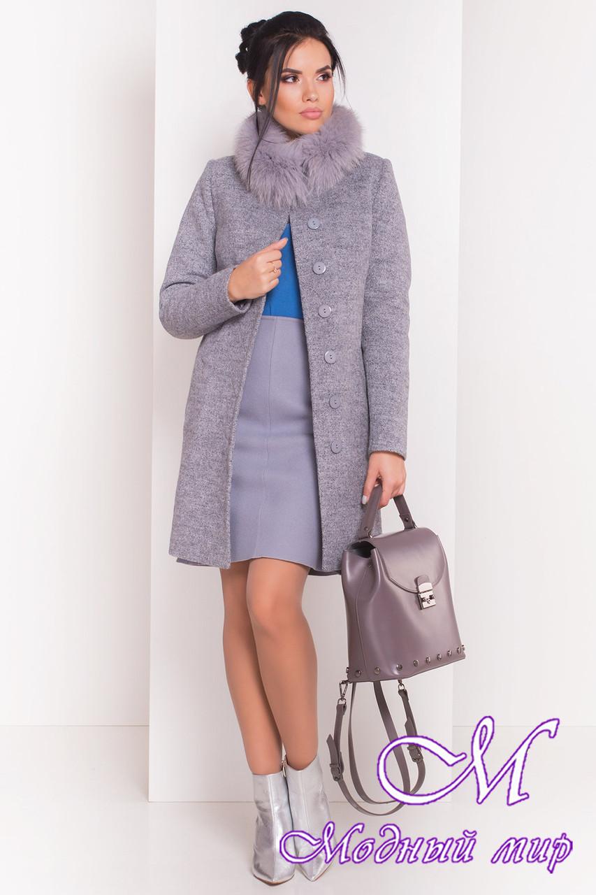 Красивое женское зимнее пальто с мехом (р. S, М, L) арт. Фортуна 3603 - 19153