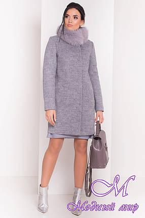Красивое женское зимнее пальто с мехом (р. S, М, L) арт. Фортуна 3603 - 19153, фото 2