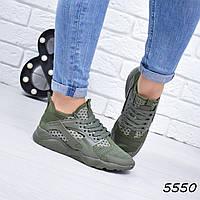 Кроссовки женские под Huarache хаки 5550, люкс качество, фото 1