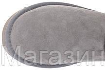 Женские угги UGG Australia Bailey Button, короткие угги австралия с пуговицей оригинал серые, фото 3