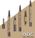 Карандаш для бровей 3в1 BEATY EYEBROWS от «BIOAQUA» B013 (темно коричневый), фото 2