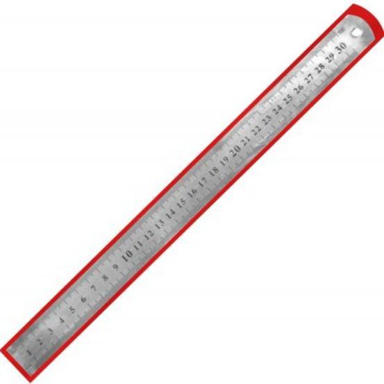 Лінійка 30см NV-72014 металева  0,7мм