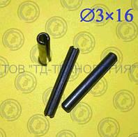 Штифт пружинный цилиндрический Ф3х16 DIN 1481