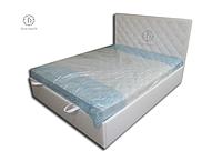 Кровати для спален с мягким изголовьем и подъемным механизмом на ламелях купить от производителя в Украине