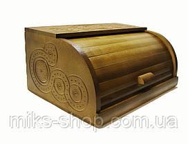 Хлебница деревянная ручная работа резьба, фото 2