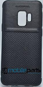 Кожаный Чехол EasyBear Leather для Samsung S9 (Черный)