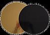 Подложка усиленная круглая золотая / черная, h-3мм Ø 40, 30 шт