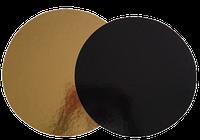 Подложка усиленная круглая золотая / черная, h-3мм Ø 24, фото 1