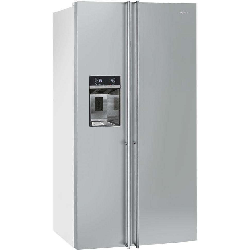 Отдельно стоящий холодильник с морозильной камерой,  Smeg SBS63XED