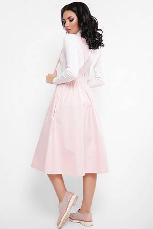 62d1e8c8222 Красивая женская юбка средней длины светло-розовая - купить по ...
