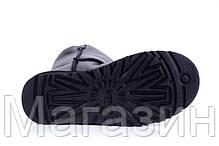 Женские угги UGG Australia Bailey Button Metallic Black оригинал короткие угги угг австралия черные, фото 3