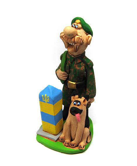 Статуетка Прикордонник з собакою