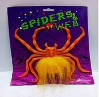 Волохатий павук на присоски, пластиковий, 3 кольори, фото 1