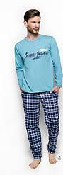Пижама мужская бирюзовая Taro 2257Long Pajamas Mariusz. Польша