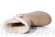 Женские угги UGG Australia Bailey Button Sand, короткие угги австралия с пуговицей оригинал бежевые, фото 2